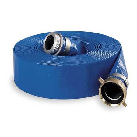 Blue water suction and discharge hose.