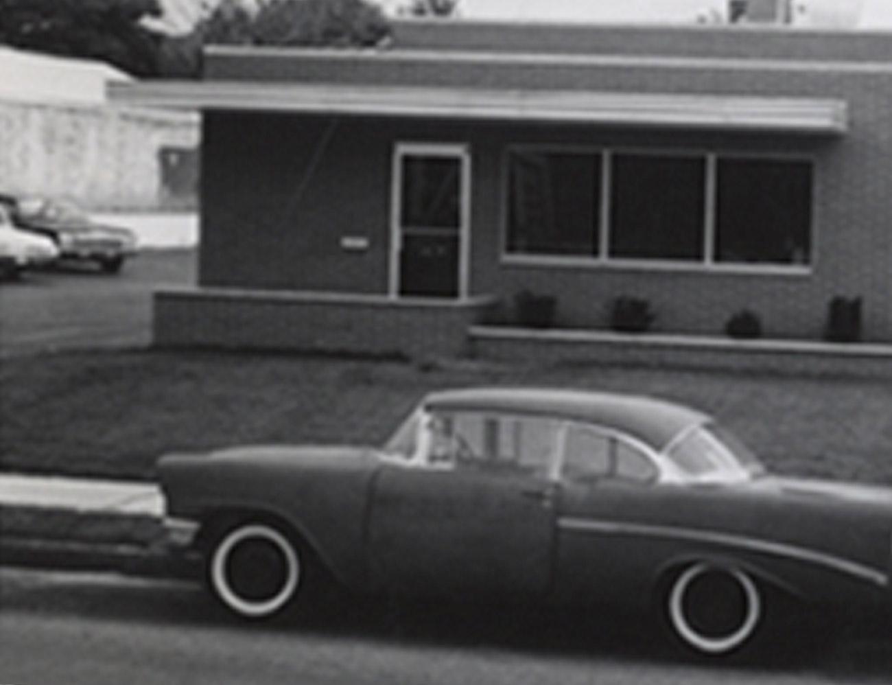 Car outside original Binkelman warehouse.